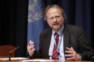 Press conference by Heiner Bielefeldt, Special Rapporteur on Freedom of Religion or Belief.